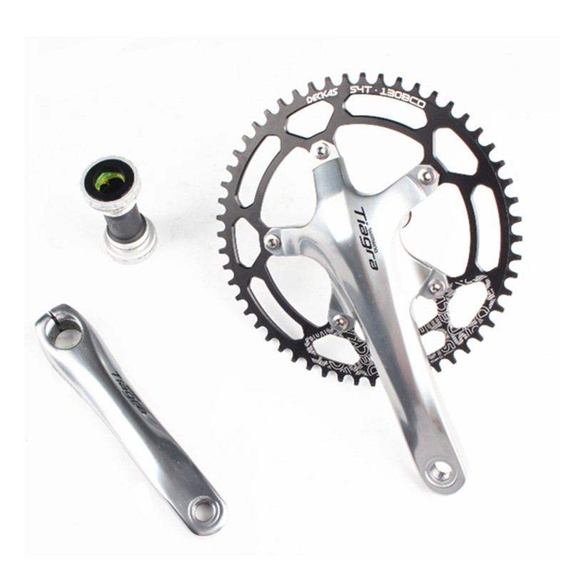 Shimano Tiagra 4600 Road bike bicycle crank with Deckas 130bcd chainring 50T/52T/54T/56T/58T With BB4600Shimano Tiagra 4600 Road bike bicycle crank with Deckas 130bcd chainring 50T/52T/54T/56T/58T With BB4600