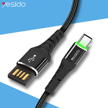Yesido CA35 Reversible USB Type C Cable For Samsung S10 S9 S8 Plus Note 9 Charger Cord Fast Charging Type-c Cables