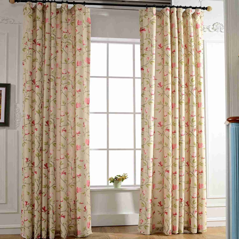 Curtain For Balcony: 2019 Curtain For Living Room Magnolia Flower Printing