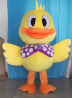 yellow duck mascot costumes party birthday gift Halloween party Fancy Dress school team sport Adult Size hot sale