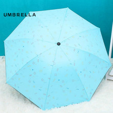 Folding umbrella Mini UV protection Sun Three-folding Umbrella for women