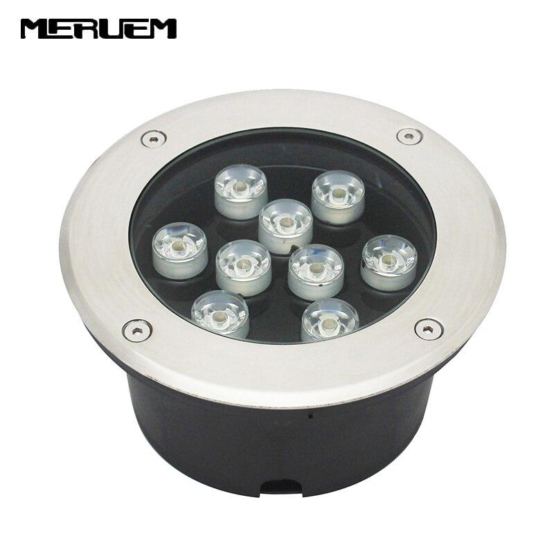 9 1W LED Underground Light Lamp Buried Recessed Floor Lamps Floor Uplighter IP65 Landscape Stair Lighting
