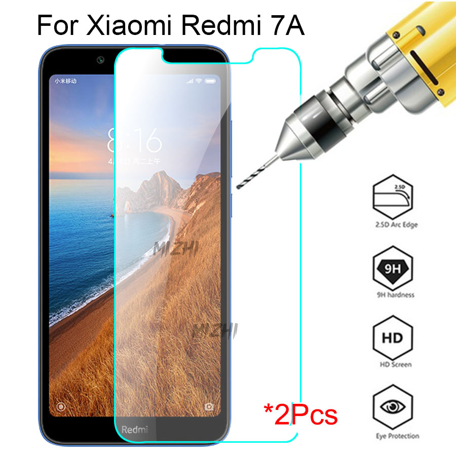2pcs Original Glass For Xiaomi Redmi 7A Screen Protector Protective Glass On Xiomi Xaomi Ksiomi 7A 7 A A7 Safety Film 2.5d Glas