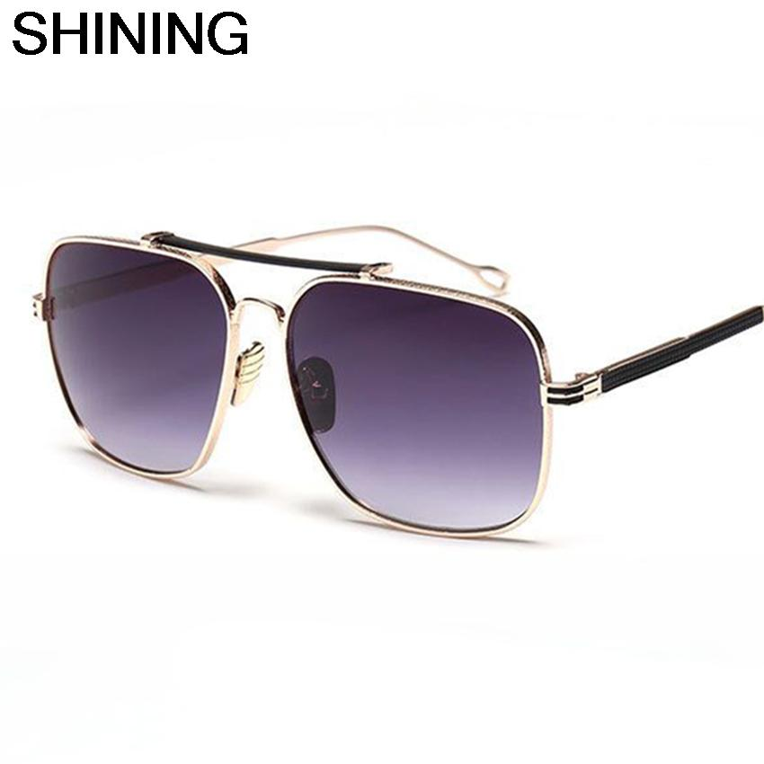 2016 Newest Fashion Trend Retro Double Girder Metal Frame Sunglasses Men Women Brand Designer Cool Sun Glasses Oculos De Sol