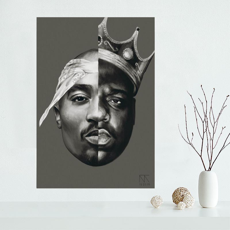 Nice Custom 2PAC ,TUPAC Canvas Poster Print Painting Art Wall Silk Poster Cloth Print Fabric Poster