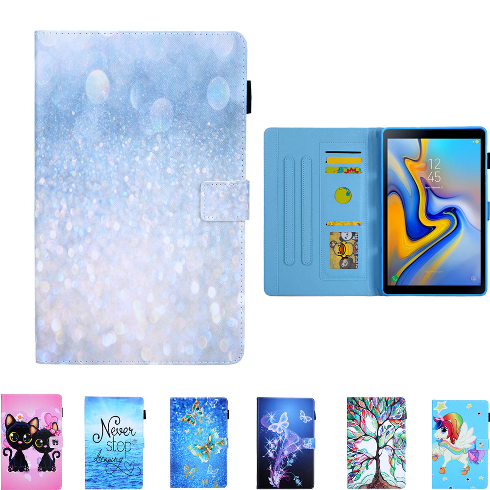 Folio Cartoon Cover <font><b>Case</b></font> for Samsung Galaxy Tab A 2019 SM-<font><b>T510</b></font> SM-T515 <font><b>T510</b></font> T515 <font><b>Case</b></font> for Tab A 10.1'' 2019 Tablet Sleeve Bags image