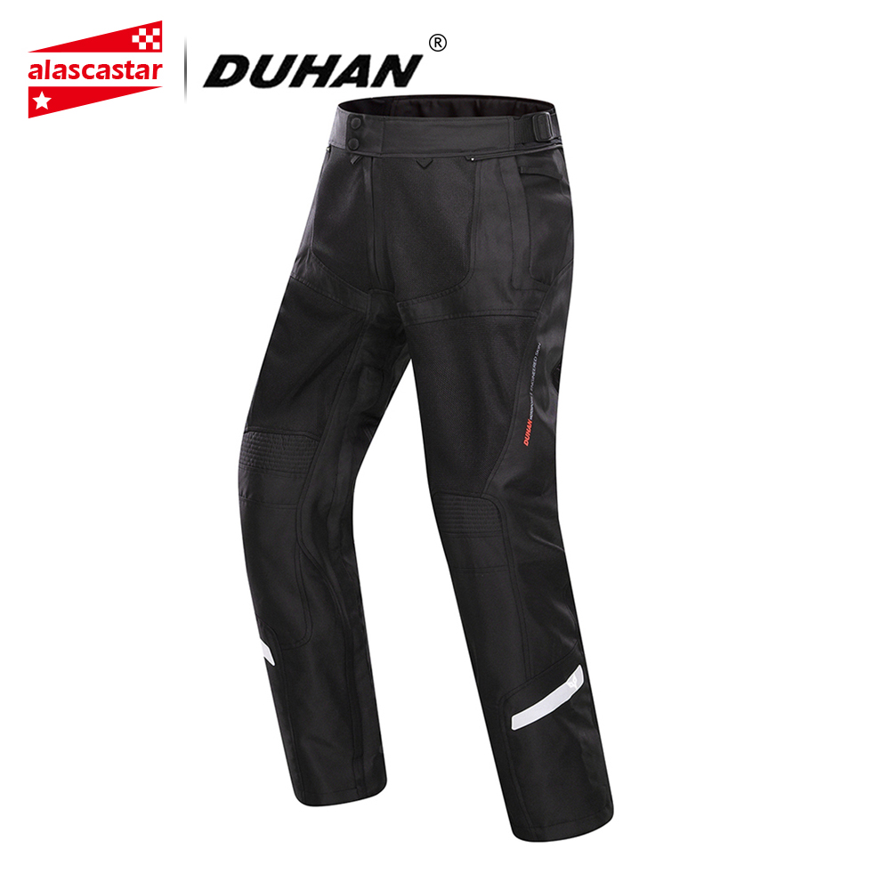цена на DUHAN Motorcycle Pants Summer Cool Breathable Mesh Motorcycle Racing Pants Clothing Motorbike Touring Street Riding Trousers