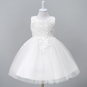1-8Year Toddler Baby Tutu Dress White Red Ball Gown Party Stage Princess Dresses Bridesmaid Flower Girl Clothes Vestido Infantil(China)