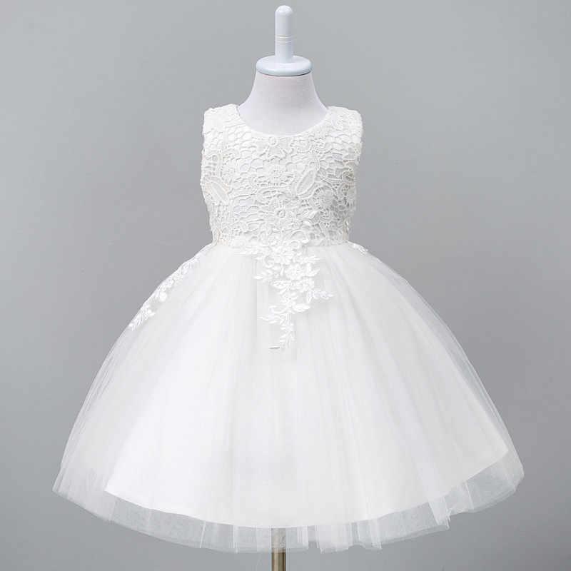1-8Year 幼児チュチュドレス白赤ボールガウンパーティーステージ王女のドレス花嫁介添人フラワーガールの服 Vestido Infantil
