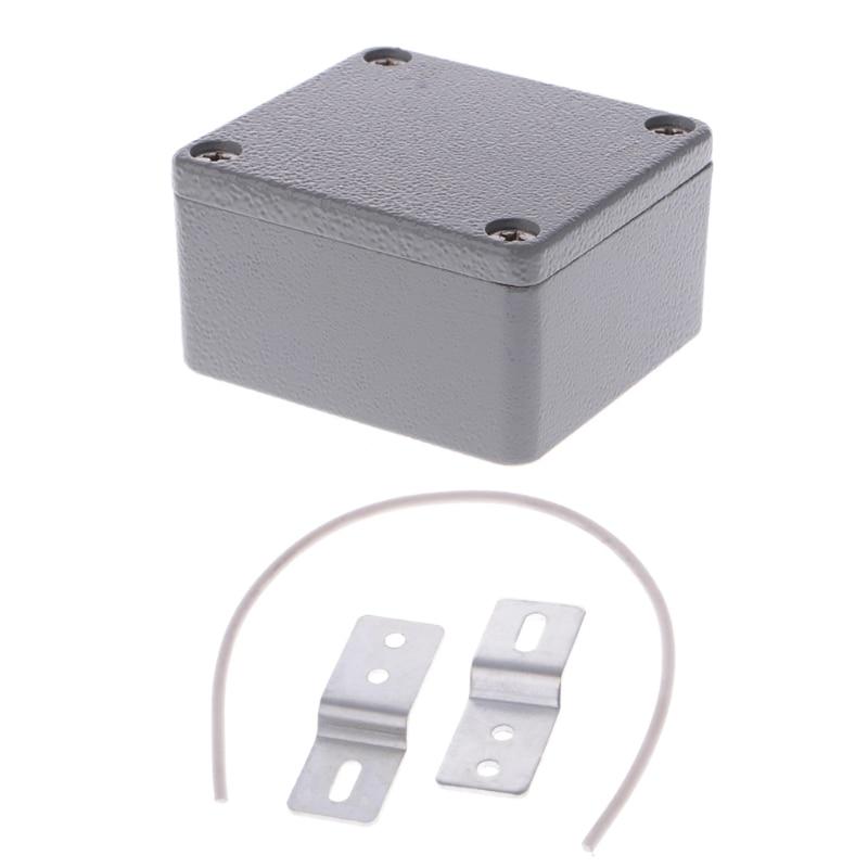 Sealed Die-Cast Aluminum Enclosure Case Junction Box 64x58x35mm LxWxH IP67 L15 1 piece free shipping powder coating aluminum extrusion profiles die cast junction case 30 105 100mm
