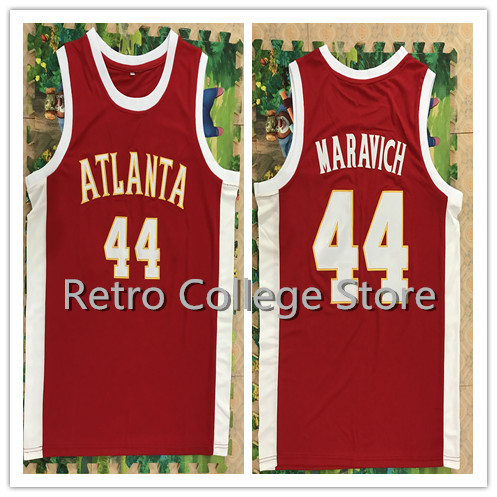44 Pete Maravich Retro throwback ATLANTA College jersey customize Any number High quality embroidery Basketball jerseys 2017 dwayne men cheap basketball jerseys kevin durant jersey 33 stitched shirt oak hill high school throwback basket jerseys