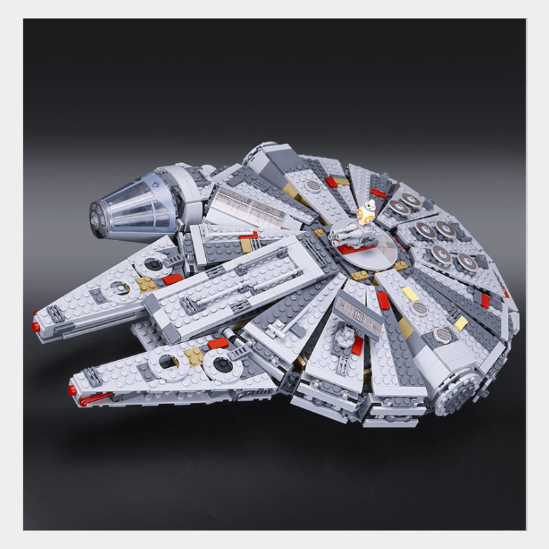 LEPIN 05007 1381pcs Star Series Wars Millennium Falcon Technic building blocks gifts Toys for Children Compatible Legoed 10467 ynynoo lepin 05007 star assembling building blocks marvel toy compatible with 10467 educational boys gifts wars