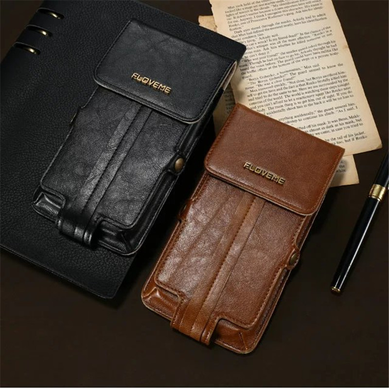 best service 959e4 5cc6a Geniune Leather Wallet Belt Clip Pouch Holster Case Cover Bag for IPhone 7  7 Plus 6 6S Plus on Aliexpress.com | Alibaba Group