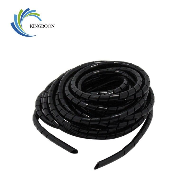 8mm Flexible Spiral Tube Cable Wire Wrap cable Wire Cord Black 10 Mete DI