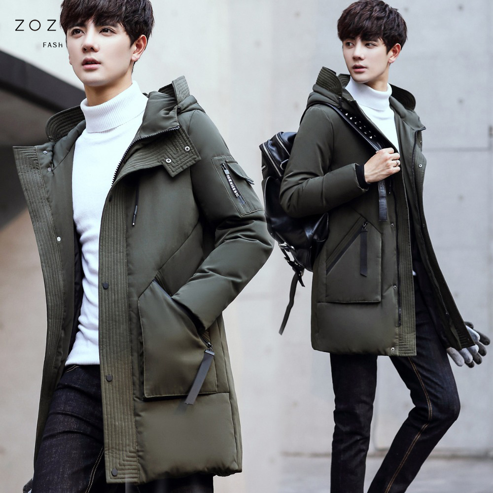 new men Clothing Jackets Business Long Thick Winter Coat Men Solid   Parka   Fashion Overcoat Outerwear plus size 4XL