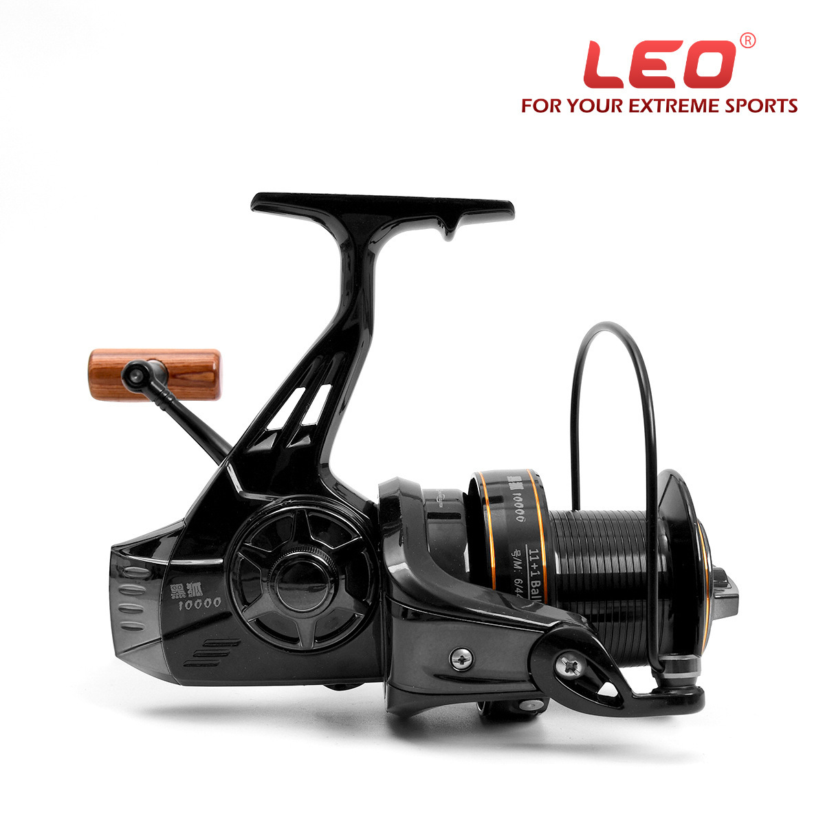 LEO moulinet de pêche rapport de vitesse de roue de rotation 4.1: 1 roulement à billes 11 + 1BB équipement de pêche en acier inoxydable de haute mer 2018 nouveau Pesca