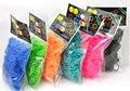 600 pcs Pacote Elástico 16 cores Meninas DIY Pulseira Tear Bandas Refil Saco Saco Do Opp