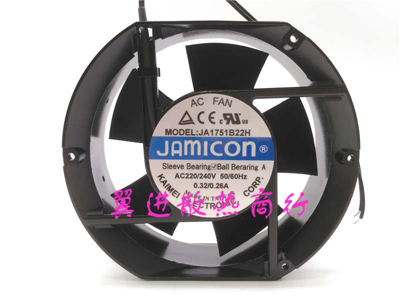 New original JAMICON JA1751B22H AC220 / 240V 0.32 / 0.26A 172*150*51mm cooling fan original s a n j u sj1738ha2 172 150 38mm 220vac 0 31a axial fan