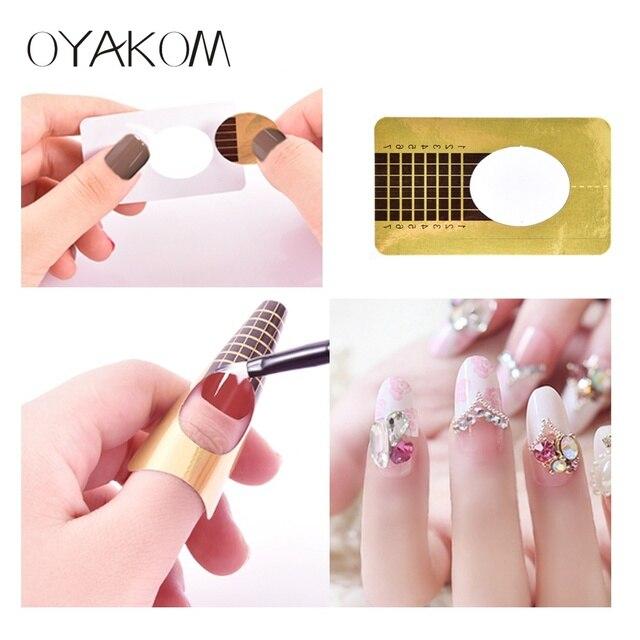 Oyakom 100pcs Nail Forms Gel Extension Stickers Nail Art