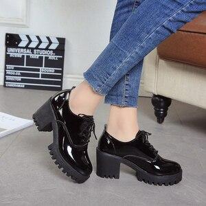 Image 5 - 春の 2019 新スタイル英語女の子厚いとセクシーなハイヒール学生のための女性の靴ファッション