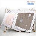 Alta qualidade De Veludo 100% Algodão 90*115 cm colcha linda delicada do bebê bebê dos desenhos animados cama berço cama para recém-nascidos bebê da menina do menino