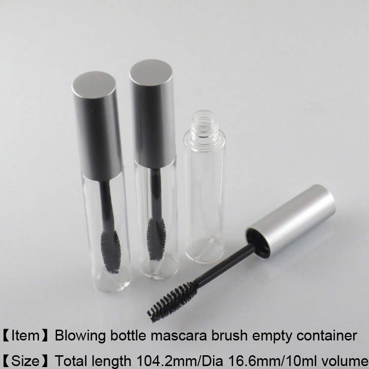 225pcs lot free Shipping 10ml mascara container bottle empty cosmetic package mascara tube