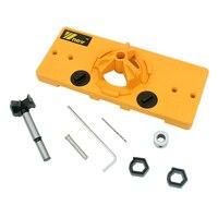 High Quality DIY Woodworking Tools Set 35mm Hinge Drilling Jig 35mm Forstner Bit Hole Opener