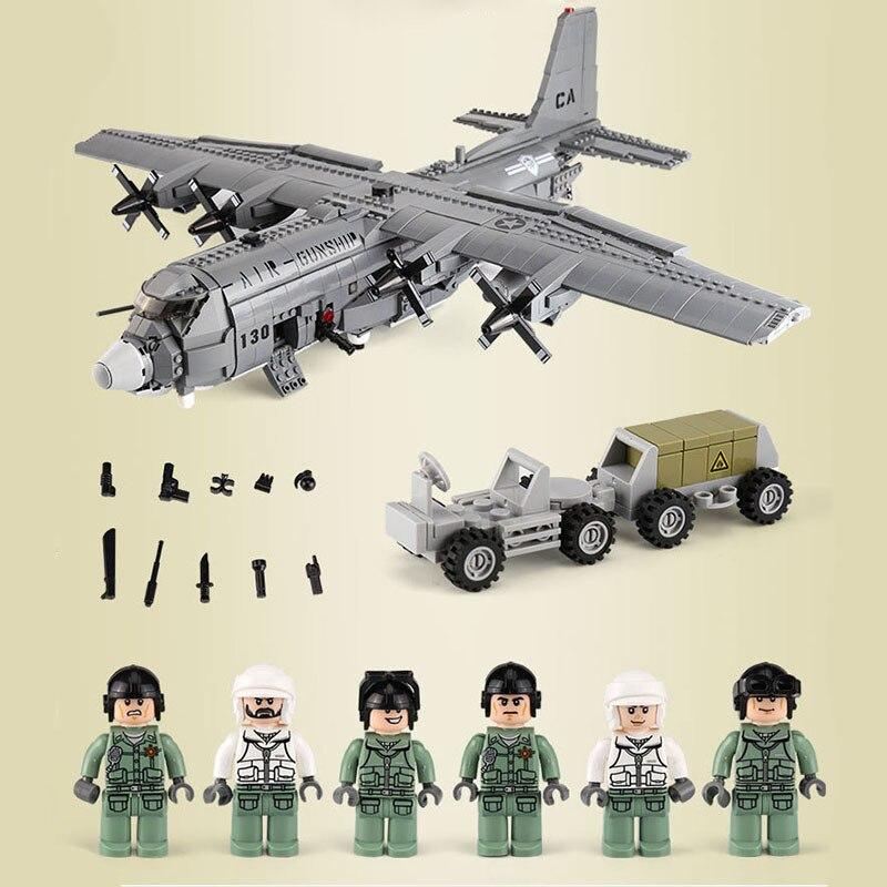 XINGBAO XB06023 armée série Legao Legoed technique militaire blocs de construction Air gunship modèle Forces spéciales soldat briques D31