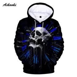 Aikooki Cool Skull 3D Hoodies Men Women 2019 Fashion Print Sweatshirt 3D Hoodie Men Funny Casual Sweatshirt Skull 3D Hoodies XXS 5