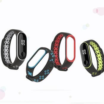 Nueva moda pulsera salvaje versión deportiva moda Anti-Pérdida dos colores correa de repuesto para mijo pulsera 3 pulsera