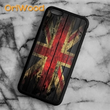 0be992a380 OriWood Union Jack Wood Effect British Flag Case cover For iPhone 6 6S 7 8  Plus