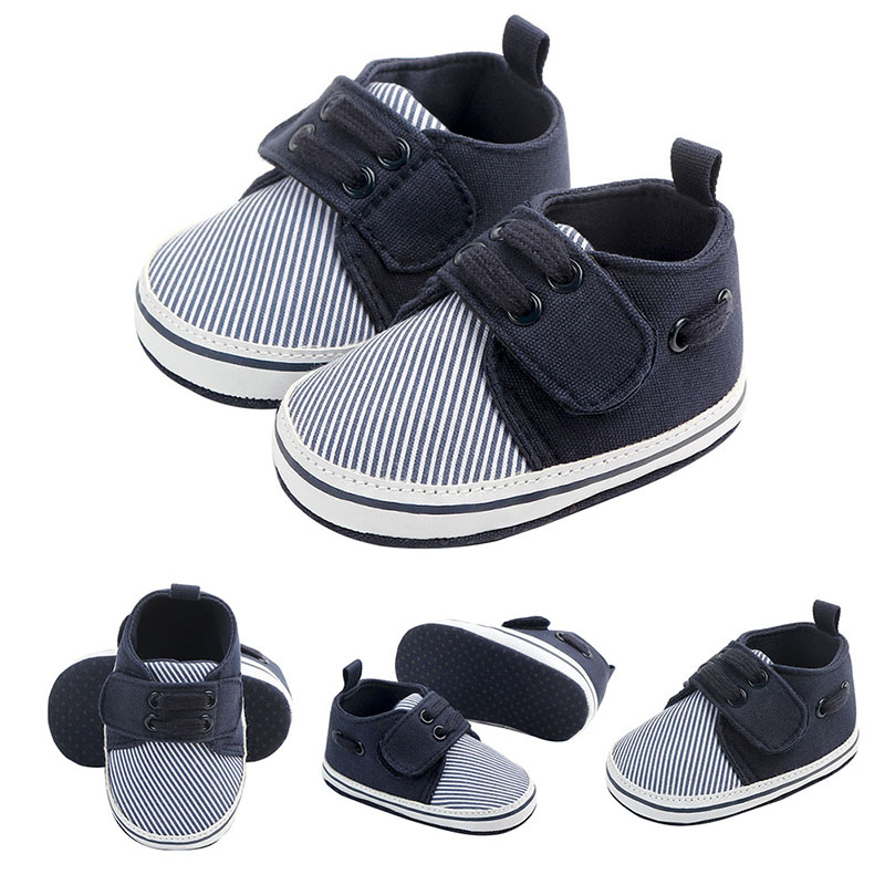 First Shoes Baby Walkers Newborn Soft Striped Fashion Boy Shoes First Walkers 2019 Cotton Prewalker Newborn Baby Shoes