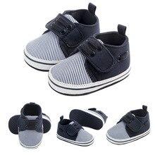 Primeros zapatos para bebés que caminan recién nacidos Moda a rayas suaves zapatos para niños primeros caminantes 2019 algodón zapatos para bebés recién nacidos