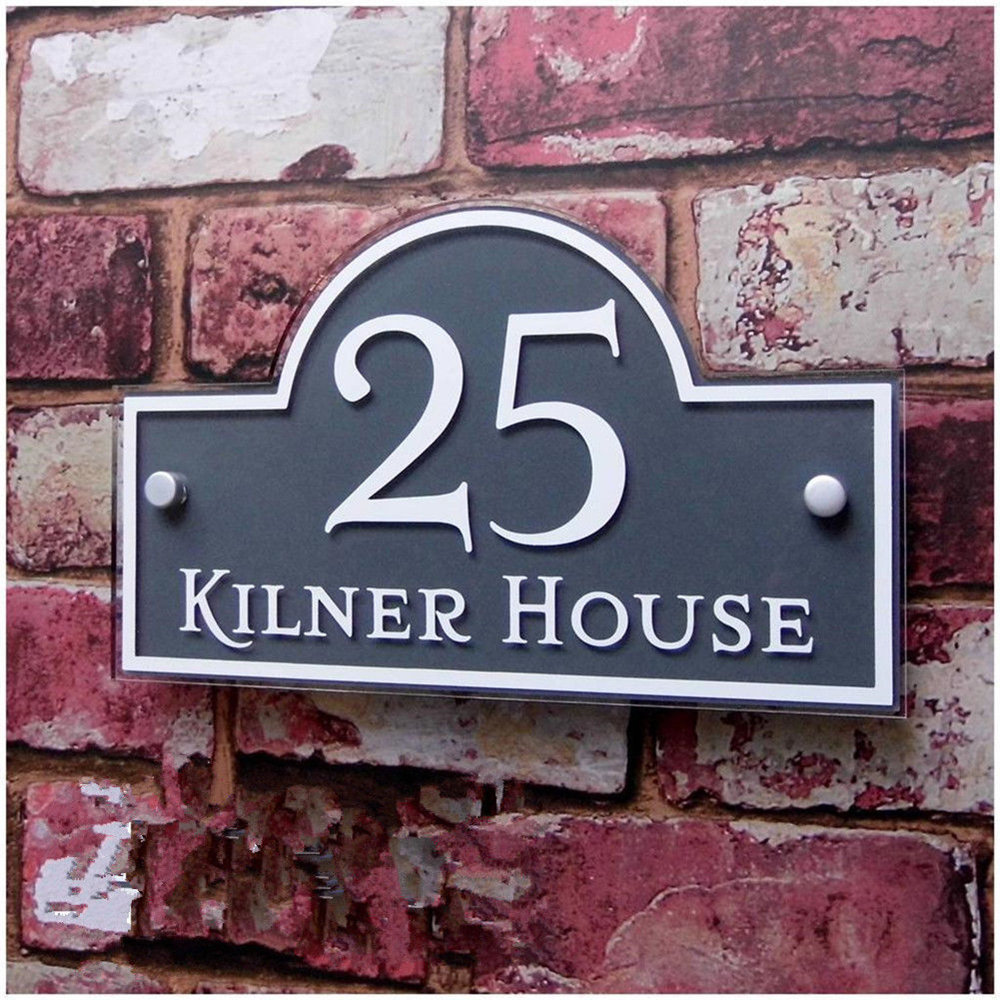Customized Modern Outdoor Frosted Plaque Acrylic Door Number Address Home Sign