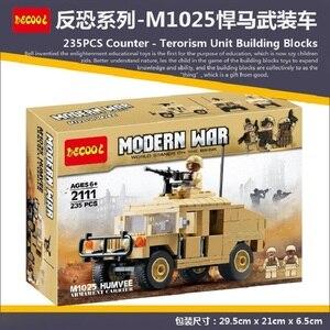 Image 2 - Décool 2111 2112 guerre M1025 Cargo voiture Hummer soldats américains jouets blocs de construction pour legos guerres militaires ensemble pour figurine LPS