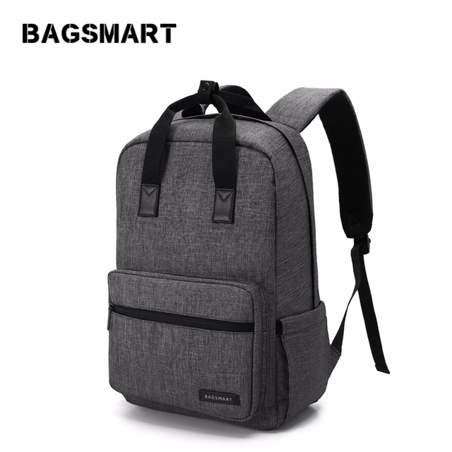 BAGSMART Business Water Resistant Polyester Laptop Backpack  For  14 Inch Laptop and Notebook,Black