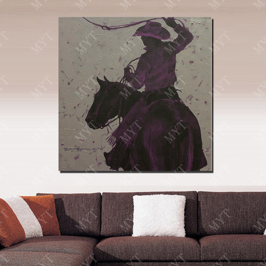 Northern america life cowboy driving horse home decor wall painting art free shipping home decoration wall picture