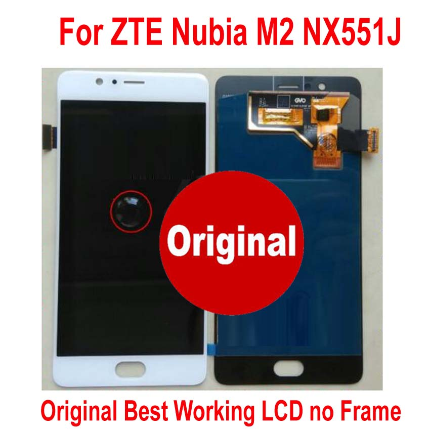 100% Tested Working Original Glass Sensor For ZTE Nubia M2 NX551J LCD Display Touch Panel Screen Digitizer Assembly or + Frame(China)