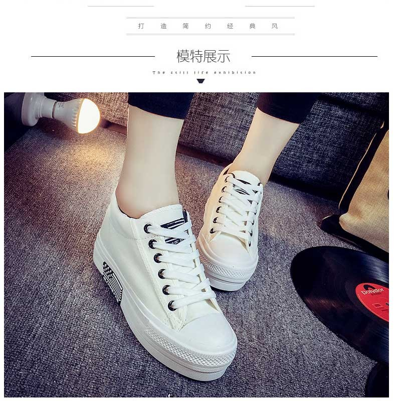 Hot Sale Women Shoes Thick Bottom Platform Non-slip Women Canvas Shoes Round Toe Mix Color Shoes For Women Drop Shipping S95 (12)