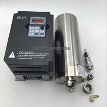 Water Cooled Spindle Kit 2.2KW 220V constant torque CNC Motor ER20 24000rpm + VFD inverter for metal engraving