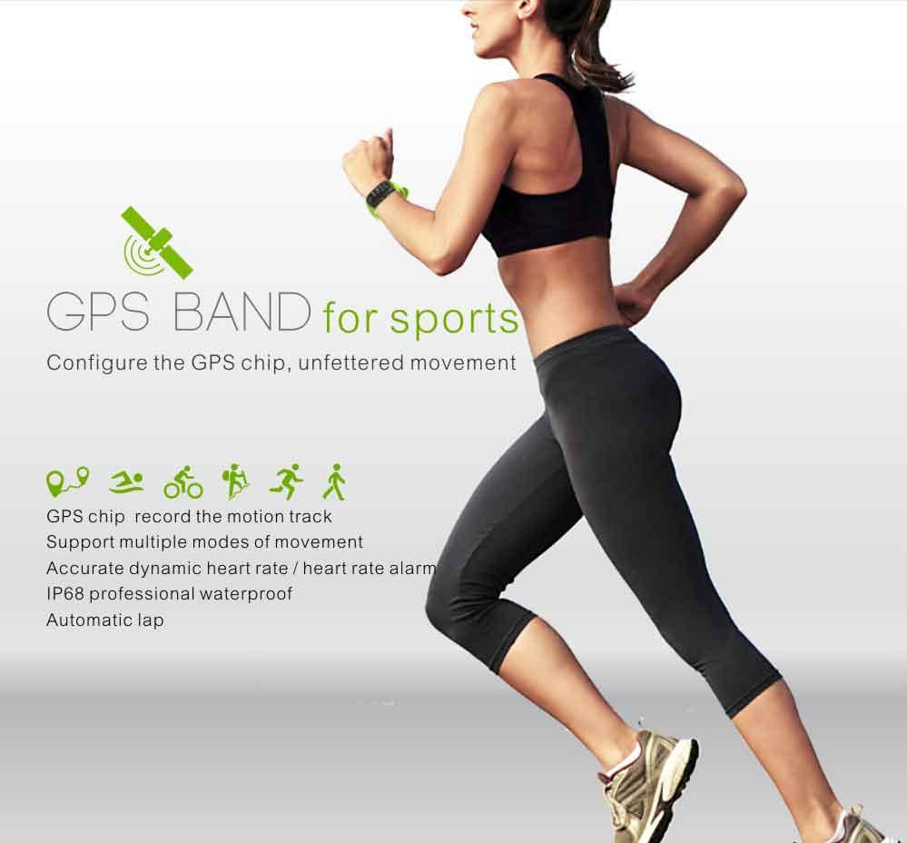 LEMDIOE Heart Rate Smart Wristband GPS Track Record Smart Band 2 Sleep Pedometer Bracelet Fitness Tracker Smart Watch Relogio 2