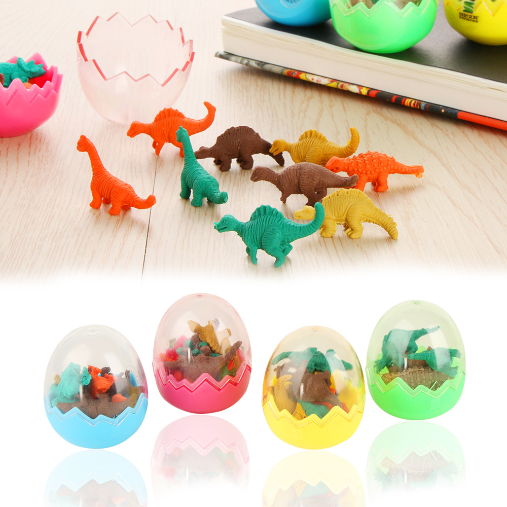1 Pc Creative Dinosaurs Egg Shaped Pencil Eraser For Kids Gift Stationery Students Office School Supplies Erasers C26 Office & School Supplies