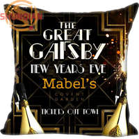 New Nice Great Gatsby Pillowcase Wedding Decorative Pillow Case Customize Gift For Pillow Cover A311&41