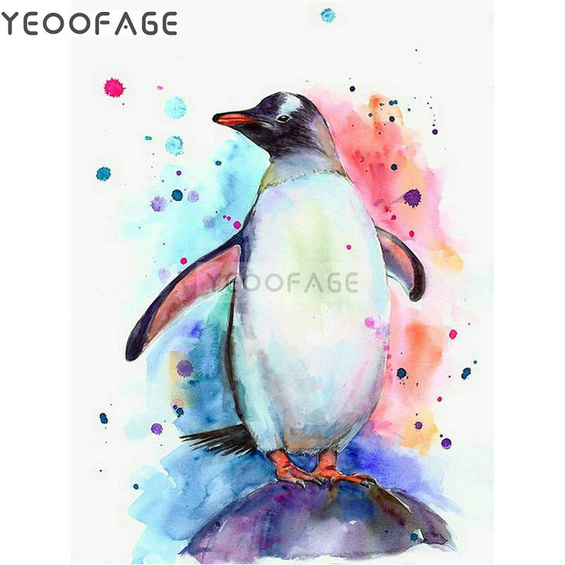 5D Diamond Painting Full Drill Embroidery Cross Stitch Kits Penguin Home Decors