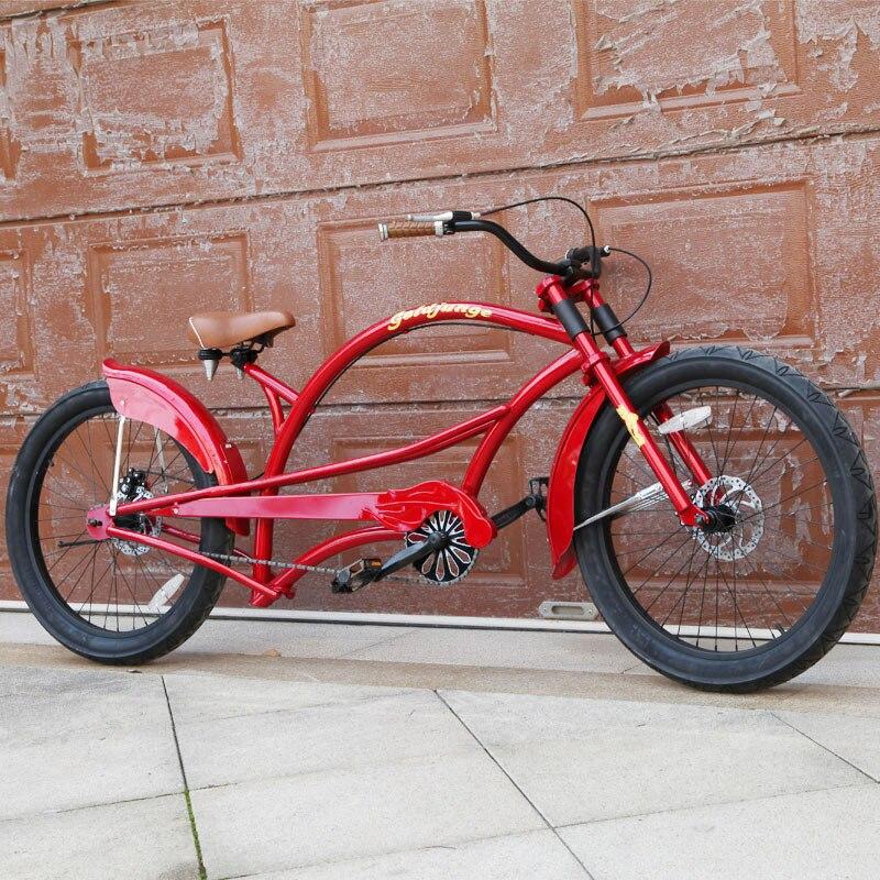 Cadre en acier à haute teneur en carbone de frein à disque de bicyclette rétro de personnalité