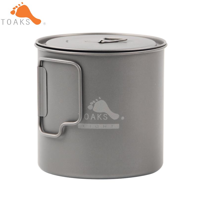 Prix pour TOAKS POT-650-L Titanium Tasse 650 ML Camping En Plein Air Léger Pot Pique-Nique Batterie De Cuisine Pot Ultralight Titanium Pot