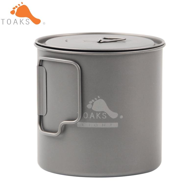 Toaks pot-650-l titanio taza 650 ml acampar al aire libre ligero pot ...