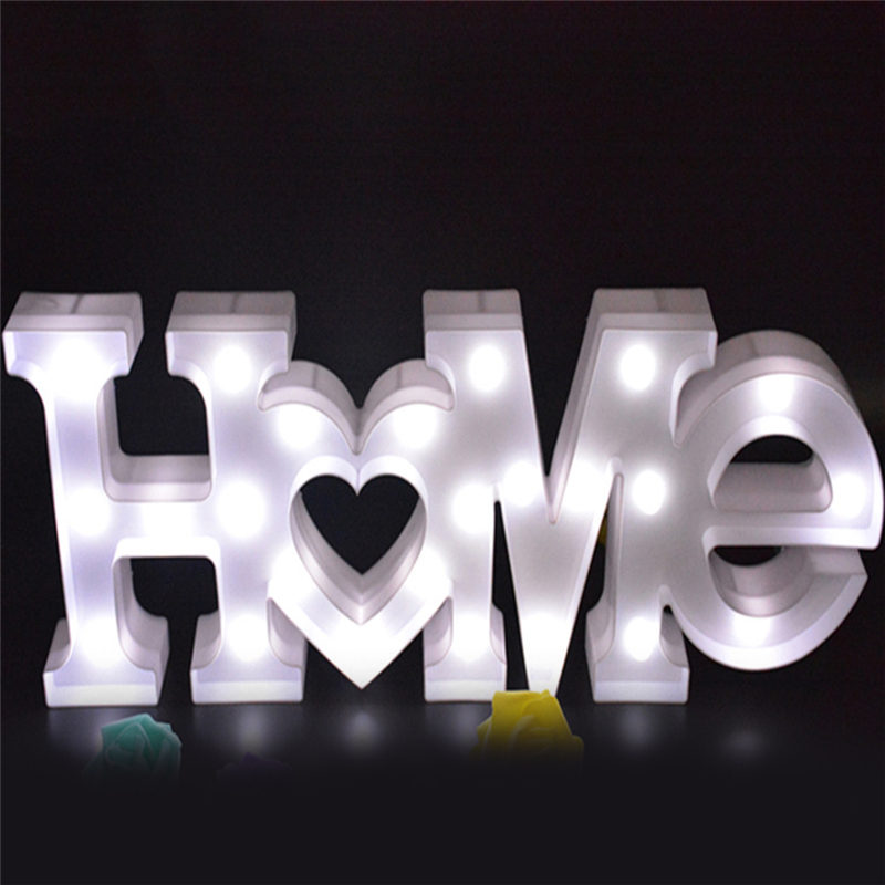 Cute LED Star Heart HOME Letter Night Lights Marquee Sign Party Wall Lamp Clouds LED Home Decor Lights Gift цена 2017