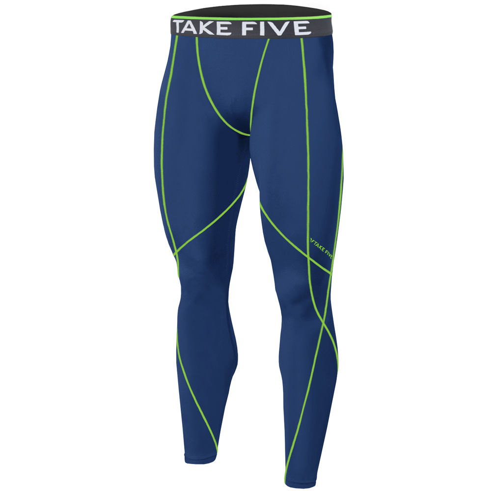New Edition Take Five Men's Skin Tights Compression Base Under Layer Motion Guard NP538 Long Pants