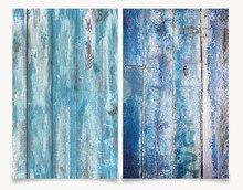 Foto Studio 3D Druck Alt Blau Holz Hintergrund doppel seiten